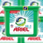 66 X Ariel Touch of Febreze Fresh Washing Universal All in 1 Pods