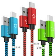 Gritin USB C Cable, [3-Pack/1M+1.5M+2M]
