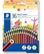 STAEDTLER 185 CD36 Noris Colouring Pencil, Assorted Colours, Pack of 36