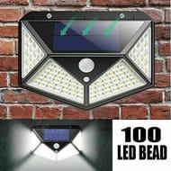 100 LED Solar PIR Wall Security Lights