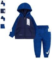 Nike Infant Boys Therma Pop Full Zip Set - Blue