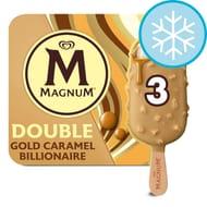 Magnum Double Gold Caramel Billionaire Ice Cream 3 Pack 255Ml