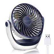 DEAL STACK - OCOOPA Portable Cooling USB Desk Fan, (Dark Blue) + £3 Coupon