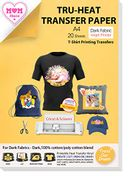 DEAL STACK - TransOurDream Tru-Heat Transfer Paper, 20 Sheets + 50% Coupon