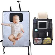 Lictin Portable Changing Mat/Back Seat Organizer with 8 Pockets