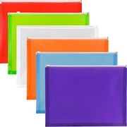 6 X JAM Paper Plastic Wallet Envelopes with Zip Closure with £6 off Coupon