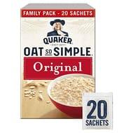 Quaker Oat so Simple Family Pack Original Porridge Sachets 20 X 27 G