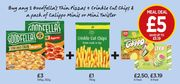 2 Goodfellas Pizzas, Crinkle Cut Chips and 6 Mini Calippo or 8 Mini Twisters