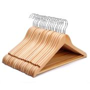Wooden Clothes Hangers - 10 Pack