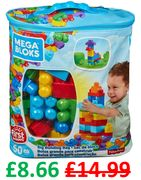MEGA BLOKS - Big Building Bag - 60 PIECES