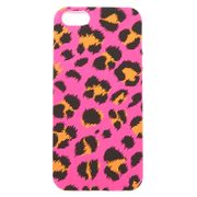 Neon Pink Leopard Print Phone Case - Fits iPhone 5/5S