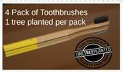 4 Bamboo Toothbrushes & One Tree Planted