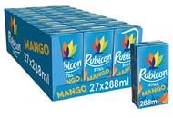 Rubicon Still Mango Juice Drink, 288 Ml, (Pack of 27 Cartons)