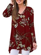 iChunhua Womens Summer Floral v Neck Vest Tunic Tops