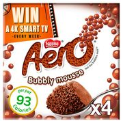 Aero Milk Chocolate Mousse 4x59g Half Price Now 75p