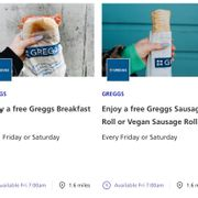 Enjoy a Free Greggs Breakfast Roll/ Sausage Roll with O2 Priority App