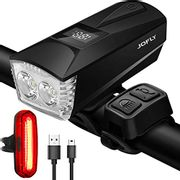 DEAL STACK - JOFLY LED Bike Lights Front and Back Rechargeable + £5 Coupon