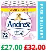 72 Andrex Gentle Toilet Rolls | 38p a Roll | +FREE DELIVERY