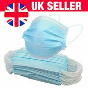 50 X 3 PLY NON SURGICAL BREATHABLE DISPOSABLE FACE MASK - Only £2.46!