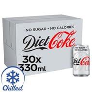 Diet Coke Cans 30 X 330ml