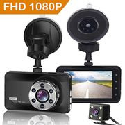 LIGHTNING DEAL - ORSKEY Dash Cam Front and Rear 1080P Full HD Dual Dash Camera