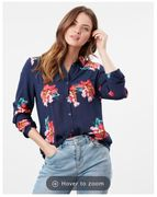Elvina Button Front Woven Top in Clearance Sale