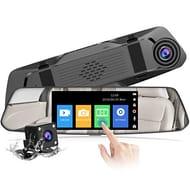 LIGHTNING DEAL - CHORTAU Mirror Dash Cam 4.8 Inches Touch Screen Full HD 1080P