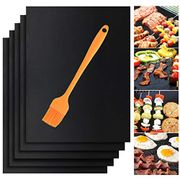 Deal Stack!Non Stick Barbecue Baking Mats with Grill Brush Set of 5