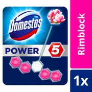 Domestos Power 5 Rim Block Pink 55g