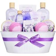 Spa Gift Baskets for Women - 12 Pcs Lavender Scent Bath Set