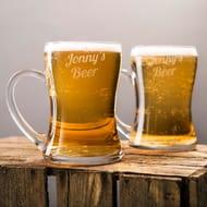 Personalised Set of 2 Beer Mugs - Names