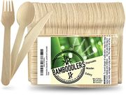 100% Eco-Friendly Biodegradable Wooden Cutlery Set with £10 off Coupon
