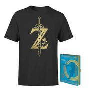 Free Delivery on Legend of Zelda T-Shirt and Notepad Bundle Orders