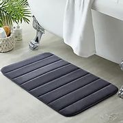 Pack of 2 Grey Memory Foam Bath Mats