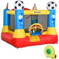 Outsunny Kids Football Field Bouncy Castle