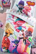 Trolls World Tour Reversible Duvet Cover and Pillowcase Set Toddler Bed