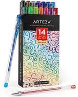 Arteza Glitter Gel Pens with Triangular Grip [14 Colours - 0.8-1.0 Mm Tips]