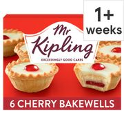 1/2 Price - Mr Kipling Cherry Bakewells, 6 Pack