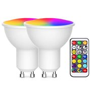 DEAL STACK - 2X Gu10 Color Changing Spot Light Bulb + 15% Coupon