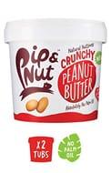 Pip & Nut Crunchy Peanut Butter - 2 X 1kg Tubs