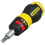 Stanley 0-66-358 Stubby Ratchet Multibit Screwdriver C & C