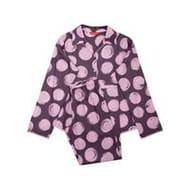 Minijammies Girls Gabriella Spot Print Long Sleeve Pyjama Set - Purple