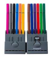 Bruynzeel Fineliners, 0.4mm Nib, Assorted Ink (Pack of 12)