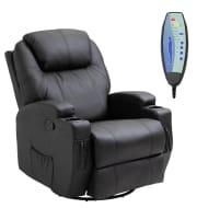 *SAVE £20* HOMCOM PU Leather Electric Massage Recliner Chair-Black