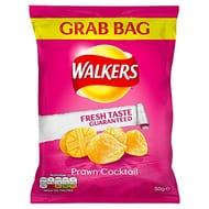Walkers Prawn Cocktail Grab Bag Crisps, 50 G (Case of 32)