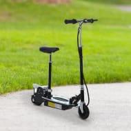 *SAVE £42* HOMCOM Teens Foldable E-Scooter Electric 12V Battery 120W-Black