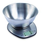 Exzact Electronic Kitchen Scale Stainless Steel Baking Scale