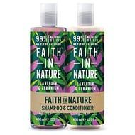 Faith in Nature Natural Lavender & Geranium Shampoo & Conditioner Set