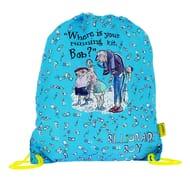 The World of David Walliams Billionaire Boy Blue Trainer Bag
