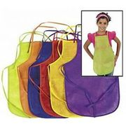 12 Children's Art & Craft Fabric Aprons for Arts, Crafts & Painting